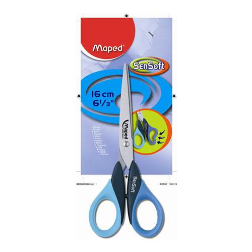 """Nožnice MAPED """"SENSOFT"""" 3D, 16 cm"""