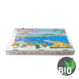 Krabica na pizzu z vlnitej lepenky 60 x 40 x 5 cm, 50 ks
