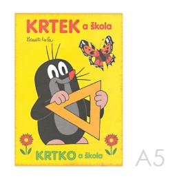 Omaľovánka A5 Akim - Krtko a škola