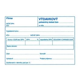 Výdavkový pokl. doklad pre podv. účt. A6 (895)