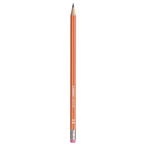 Ceruzka grafitová HB STABILO s gumou - oranžová