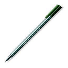 """Liner, 0,3 mm, STAEDTLER """"Triplus"""", tmavozelený"""