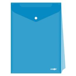Obal s patentkou - rozšíriteľný PP/A4 Up, priehľadný/modrý