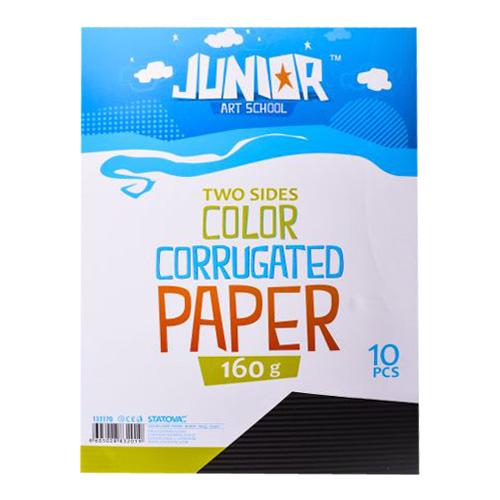 Dekoračný papier A4 vlnkový čierny 160 g, sada 10 ks