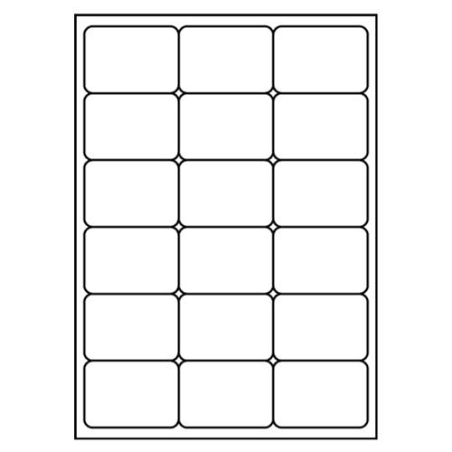 Etikety PRINT A4/100 ks, 68x46,8 - 18 etikiet, biele
