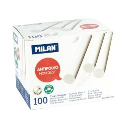 Krieda MILAN guľatá biela bezprašná 100 ks
