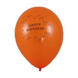 Balón M 25 cm, Happy Birthday /10 ks/