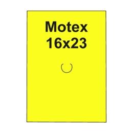 Etikety cen. MOTEX 16x23 hranaté, 870 etikiet/kotúčik, žlté