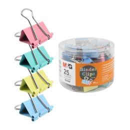 Klip Binder M&G - farebný (25 mm), 48 ks