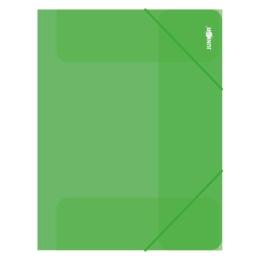 Zakladacia mapa s gumičkou PP/A4, priehľadná/zelená
