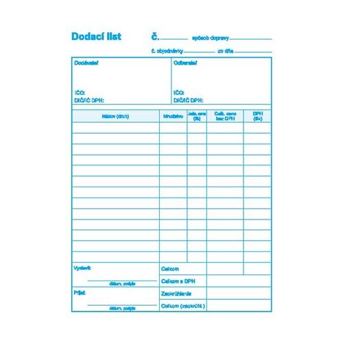 Dodací list s DPH A5, samoprepis (9)