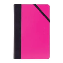 Zápisník linajkový MILAN 21x14 cm ružový