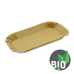 Miska papierová - hnedá 15x23x2 cm, 100 ks