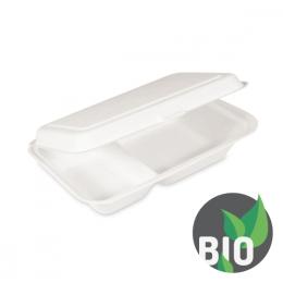 Menu box 2-dielny BIO cukrová trstina 250x162x63 mm, 50 ks