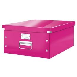 "Archivačná krabica, A3, lakový lesk, LEITZ ""Click&Store"", ružová"