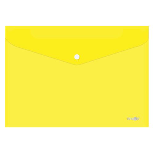 Obal s patentkou PP/A4, priehľadný/žltý