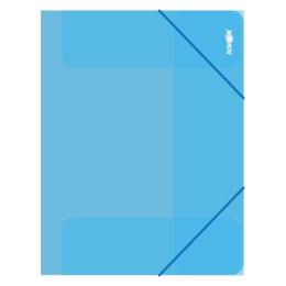 Zakladacia mapa s gumičkou PP/A4, priehľadná/modrá