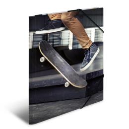 Doska s gumičkou A3 kartón - skateboard