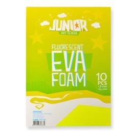 Dekoračná pena A4 EVA Fluo žltá 2,0 mm, sada 10 ks