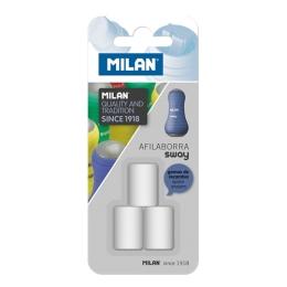 Náhradné gumy MILAN pre strúhadlá SWAY, sada 3 ks