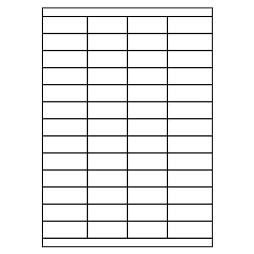 Etikety PRINT A4/100 ks, 52,5x21,2 - 52 etikiet, biele