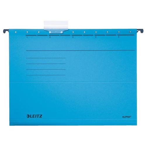 """Závesná zakladacia doska, kartón, A4, LEITZ """"Alpha"""", modrá /25ks/"""