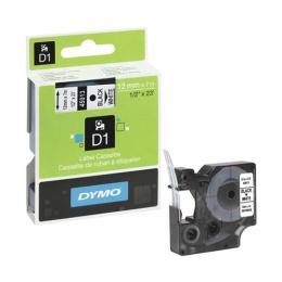 """Štítkovacia kazeta, 12 mm x 7 m, DYMO """"D1"""", čierna-biela"""