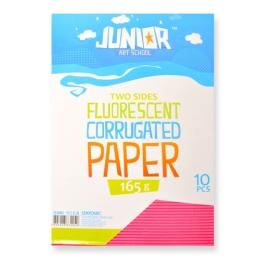 Dekoračný papier A4 Neon ružový vlnkový 160 g, sada 10 ks