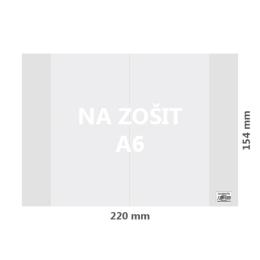 Obal na zošit A6 PVC 220x154 mm, hrubý/transparentný, 1 ks