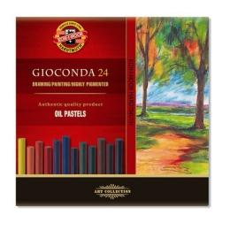 Krieda olejová KOH-I-NOOR GIOCONDA farebná, sada 24 ks - oil pastels