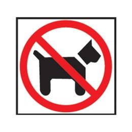 Etikety Info - Zákaz vstupu so psom 114x114 mm