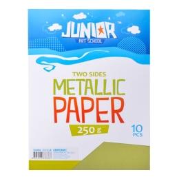 Dekoračný papier A4 bledozelený metallic 250 g, sada 10 ks