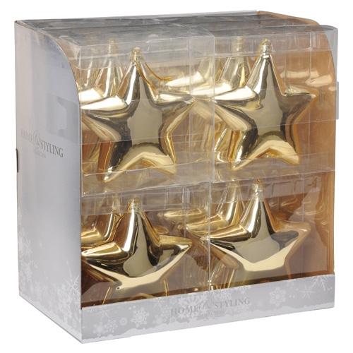 Vianočná ozdoba - PP zlatá hviezda 15 cm, 1ks
