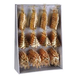Vianočná ozdoba - PP zlatá - rôzne tvary 16 cm, 1ks