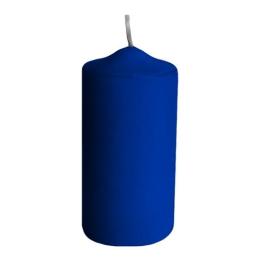 Sviečka valcová 40 x 80 mm, tm. modrá (4 ks v bal.)