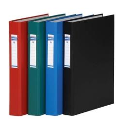 Krúžkový šanón, 2 krúžky, 40 mm, A4, PP/kartón, DONAU, modrý