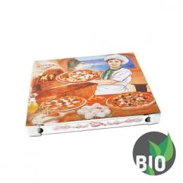 Krabica na pizzu z vlnitej lepenky 32 x 32 x 3 cm, 100 ks