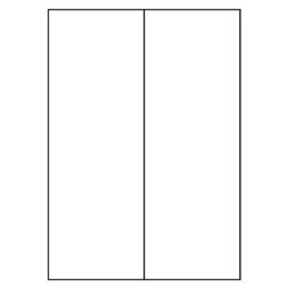 Etikety PRINT 105 x 297 biele 2 etikety / A4