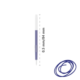 Náplň guľôčková Herb 330 0,5 mm, modrá