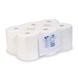 Uteráky tissue, rolované 2-vrstvé 20 cm x 150 m, biele [6 ks]