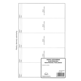 Kniha uzávierok elektronickej RP 96str. (890)