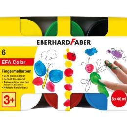 Farby prstové 40 ml - sada 6 základných farieb