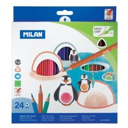 Box 12 triangular colour pencils MILAN