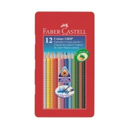 Pastelky Faber-Castell Grip 1001 12 far. v plechu
