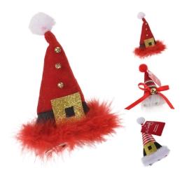 Čapica vianočná na klipe 12 cm, mix/1ks