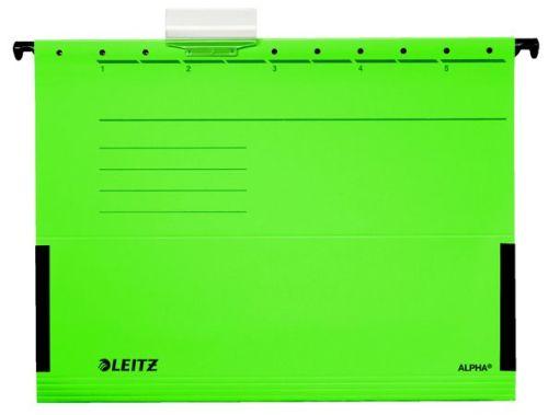 """Závesná zakladacia doska, s bočnicami, kartón, A4, LEITZ """"Alpha"""", zelená"""