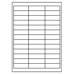 Etikety PRINT A4/100 ks, 64x21 - 39 etikiet, biele