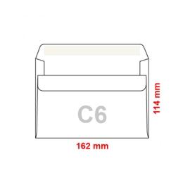 Obálky C6 114x162 mm samolepiace, 25 ks