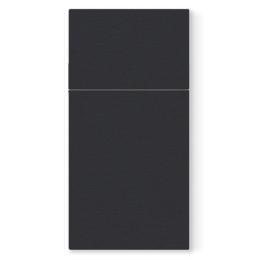 Vrecká na príbory PAW AIRLAID 40x40cm Unicolor Black, 25 ks/bal