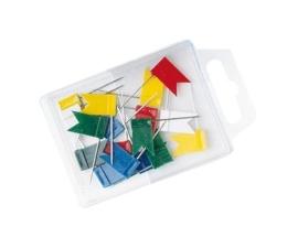 Vlajkové pripináčiky, 20 ks, WEDO, mix farieb